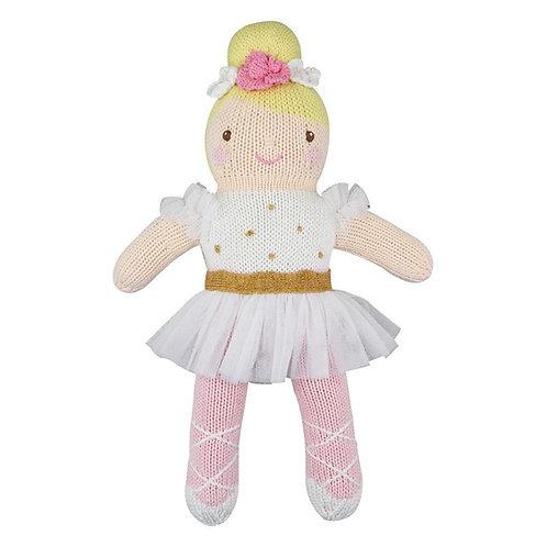 Hand-knit doll - Ballerina
