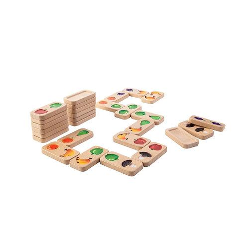 Fruit and veggie domino