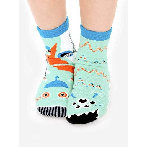 Robot & Alien - Pals Socks - Mismatched Animal Socks