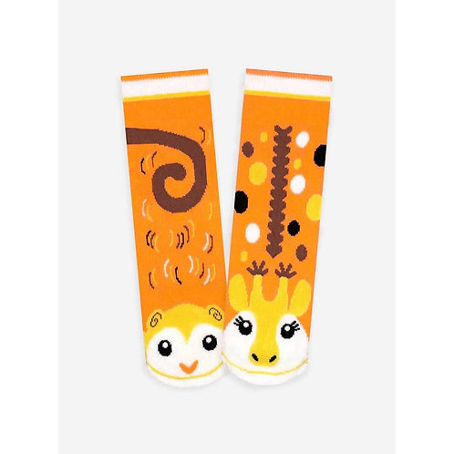 Monkey & Giraffe - Pals Socks - Mismatched Animal Socks