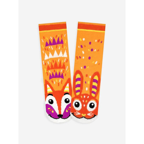 Fox & Bunny - Pals Socks - Mismatched Animal Socks