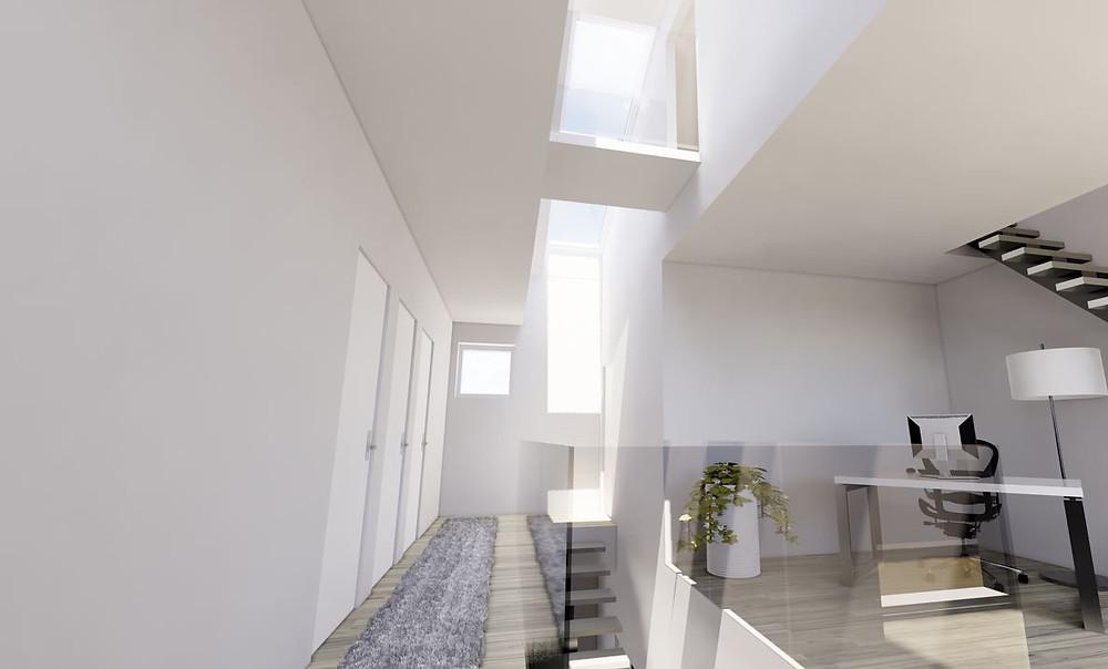 studio illuminazione naturale vano scale 1