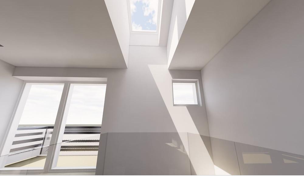 studio illuminazione naturale vano scale 2