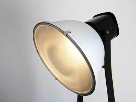 Alte Werkslampe im neuen Design !