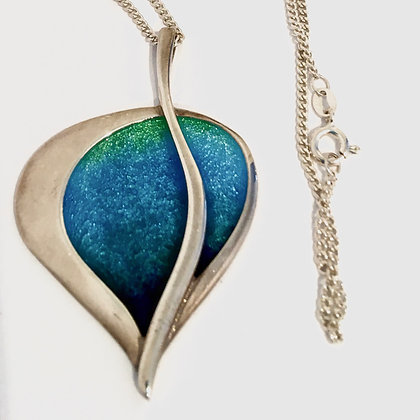 Orkney Silver and Enamel Pedant and Chain
