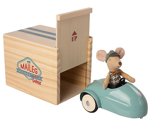 Maileg Mouse, Car and Garage