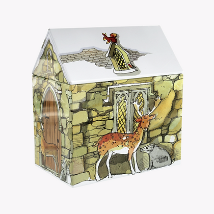 Country Cottage House Tin