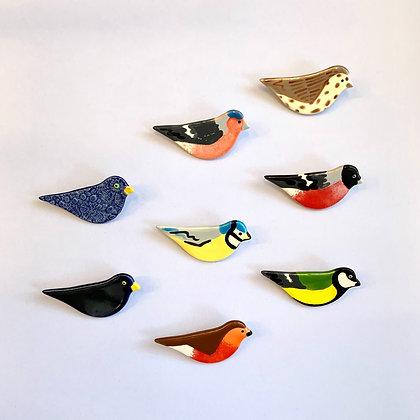 Ceramic Bird Brooch