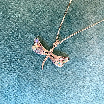 Silver Dragonfly on Silver Chain