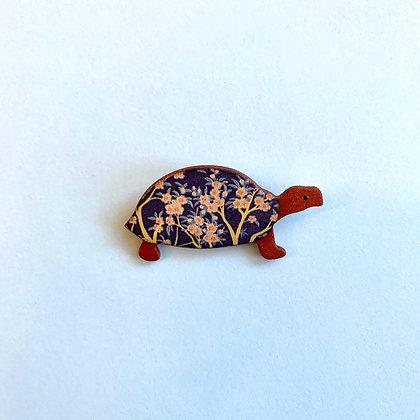 Ceramic Tortoise Brooch