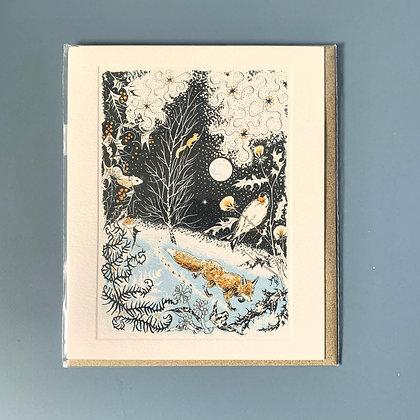 Winter's Nightlife Card