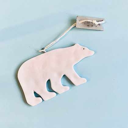 East of India Ceramic Polar Bear Decoration