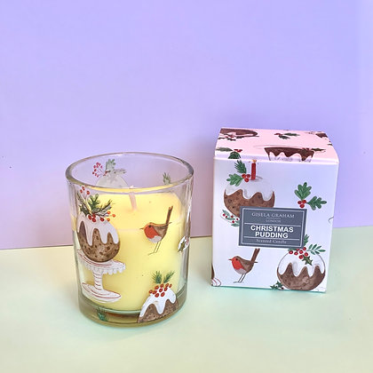 Gisela Graham Christmas Pudding Candle