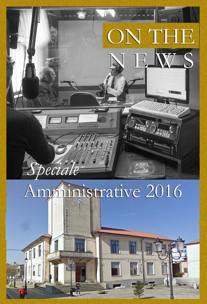 """""""On The News"""" sabato 9 Aprile 2016"""