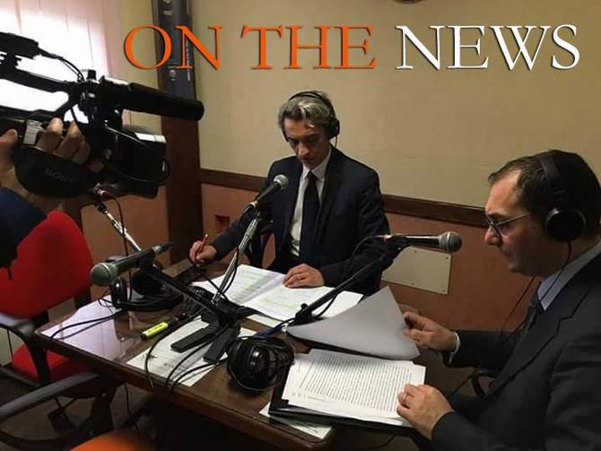 """On the news, sabato 11 febbraio, è speciale: """"Trasversale delle serre, per il comitato una mission""""."""