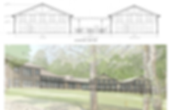 Elevation and Perspective Image of the Guthrie Lodge Expansion
