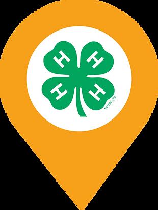 4-H Clover Map Pin