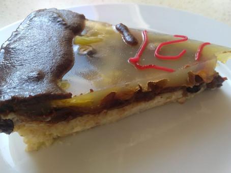 Dort, dezert, koláč pro posílení jin, plic, srdce i trávení