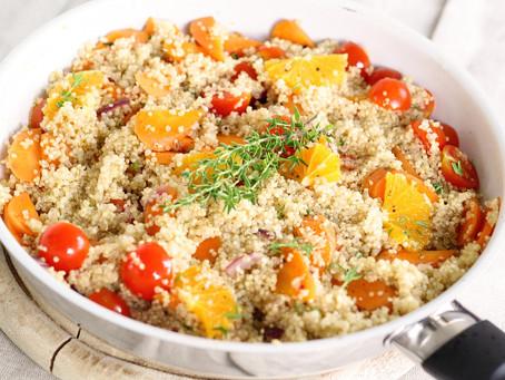 Quinoa do letních dezertů pro posílení jin a čchi