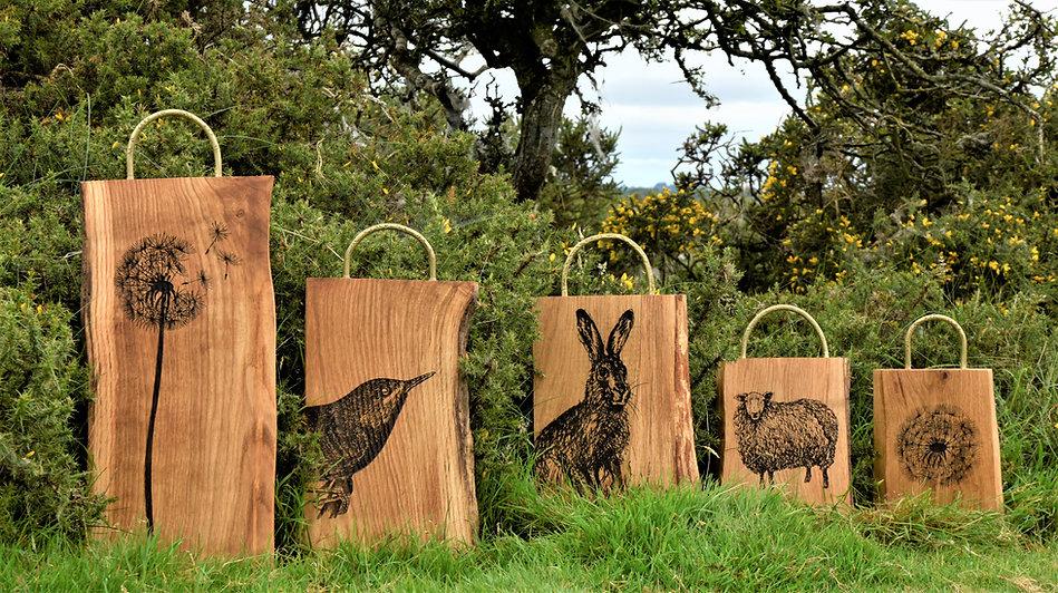 unique oak cutting boards