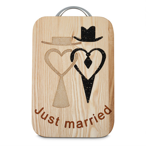 CUTTING BOARD  - JUST MARRIED