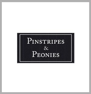 Pinstripes & Peonies