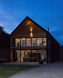 Barn House at Night