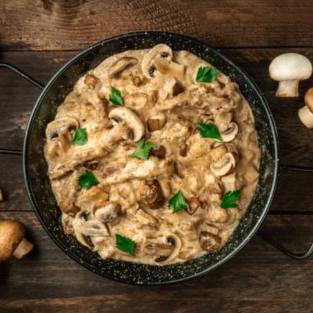 Aine's Turkey & Mushroom Stroganoff