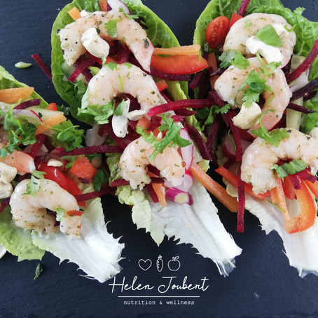 Helen's Prawn Thai Salad Boats
