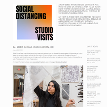 Social Distancing Studio Visit