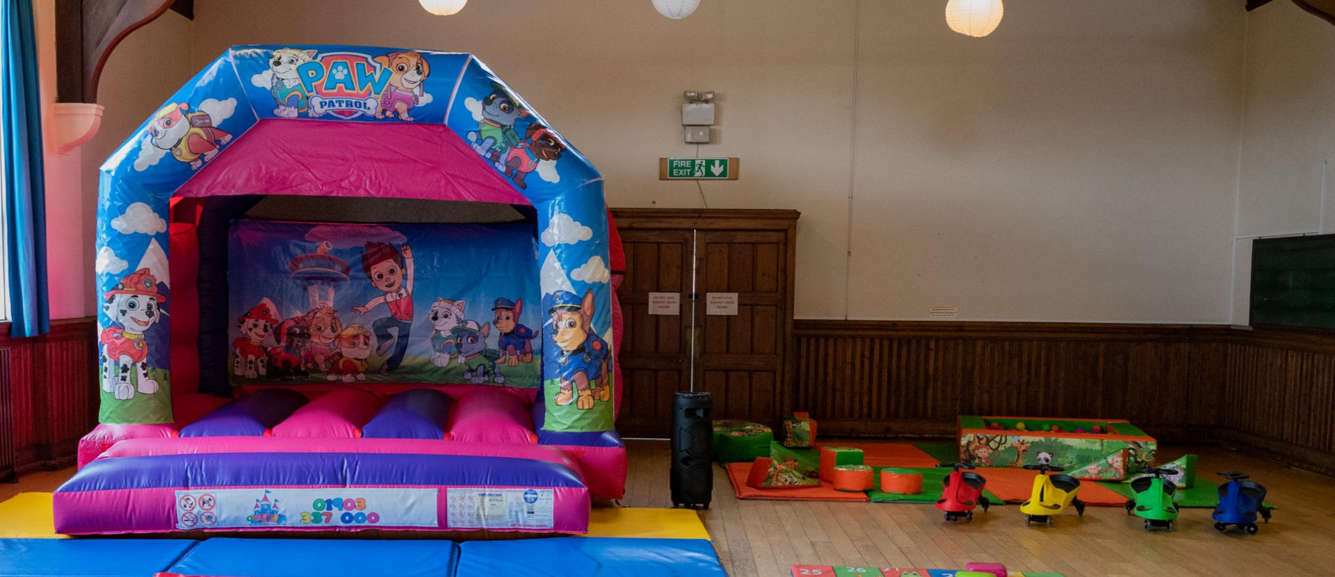 Bouncy castle and Soft play - £100
