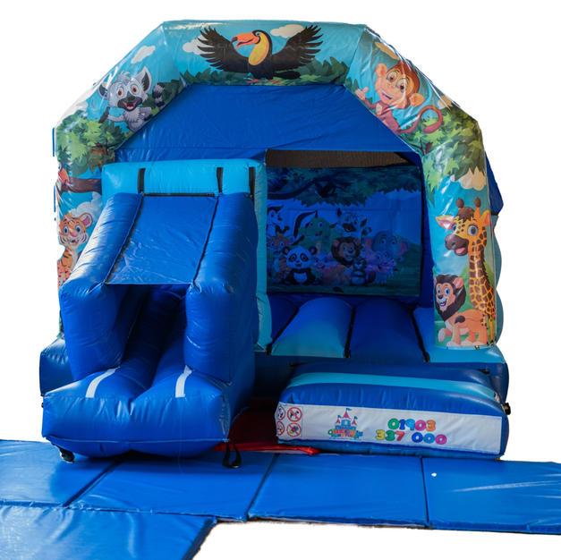 Jungle Themed Blue Slide - £65