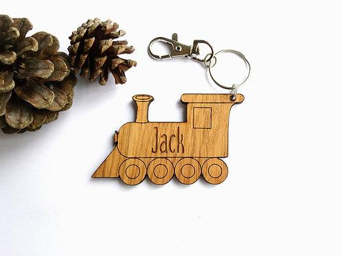 Train Bag Charm - Personalised Book Bag Charm - Keyring - Key Chain