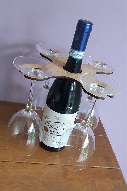 PERSONALISED WINEGLASS HOLDER - Wine Butler - Stocking filler - Secret santa