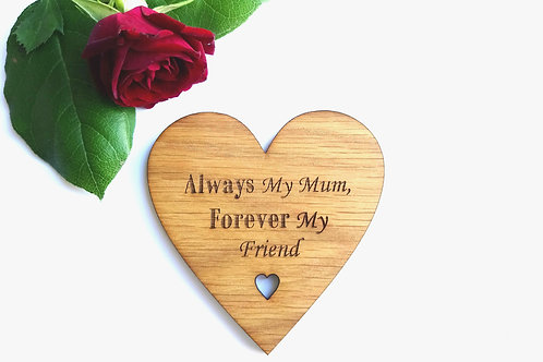 Personalised Coasters - Mother's Day Coaster - Oak veneer Coaster