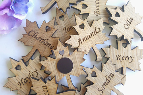Wedding Favours / Place Name Tags or magnets Double sided Options available