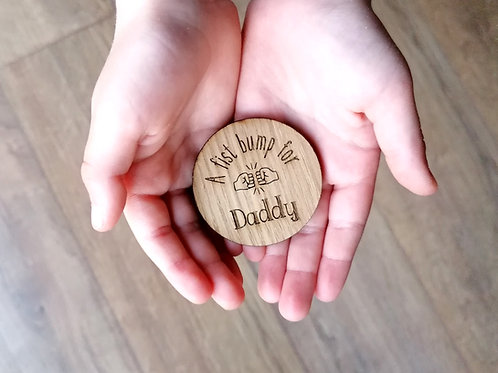 A fist bump for..... Wooden hug token gift, special gift, missing you