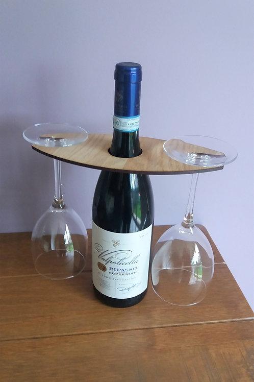 WINEGLASS HOLDER - Personalised Wine Butler, Stocking filler, Secret Santa