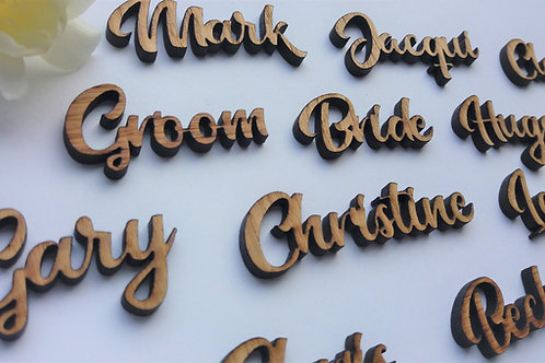 Place Name - Wooden Cut outs - Wedding table Decor - Wedding Confetti Table Plan