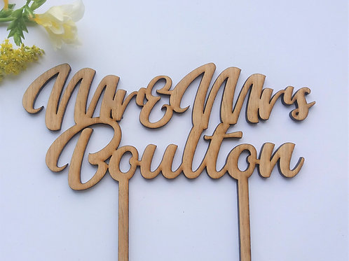 Personalised Cake Topper -Wooden Cake Topper - Various sizes and styles