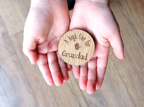 A high five for..... Wooden hug token gift, special gift, missing you