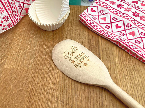 Personalised Wooden Spoon - Engraved Wooden spoon - Grandma gift - Child baker