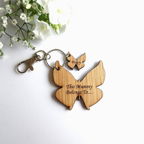 Butterfly Key Ring - This Mummy/Grandma Belongs to.. Personalised