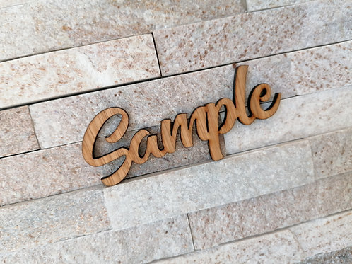 SAMPLE Place Name - Wooden Cut outs - Wedding table Decor - Wedding Confetti