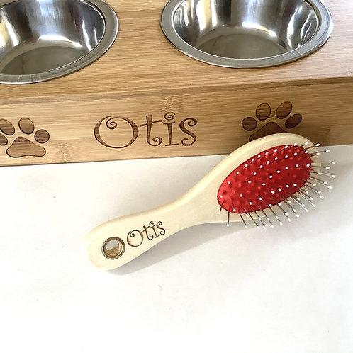 Dog/Cat Brush - Double sided brush - Wooden personalised brush