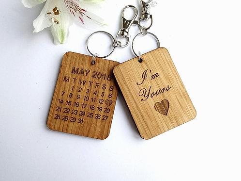 I'm Yours Personalsied Keyring - Wedding - Anniversary - Valentines - Birthday