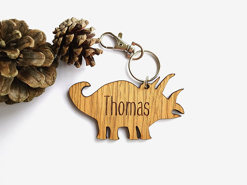 Dinosaur Bag Charm - Personalised Book Bag Charm - Keyring - Key Chain