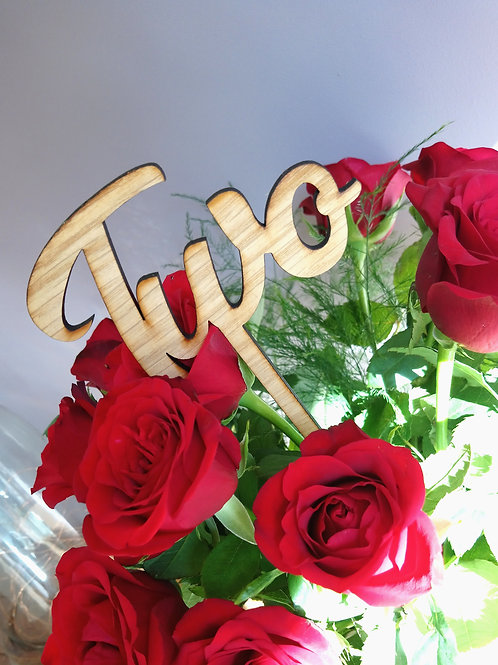 Wedding Table numbers (Written numbers)