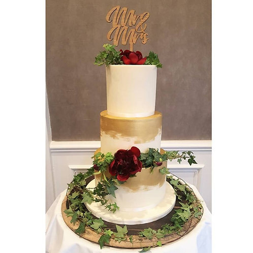 Mr & Mrs Cake Topper -Wooden Cake Topper - Various sizes and styles