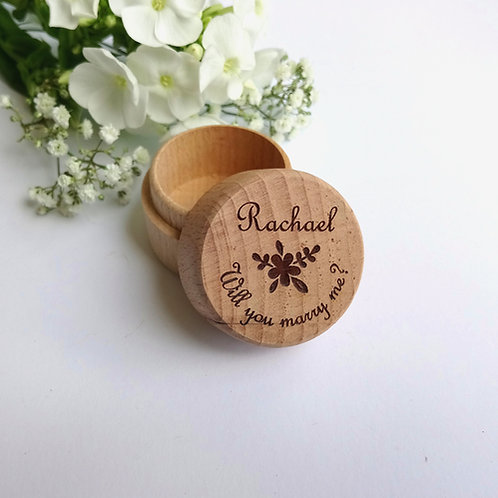 Will you marry me? Personalised Ring Box - Wooden Ring Box - Laser engraved